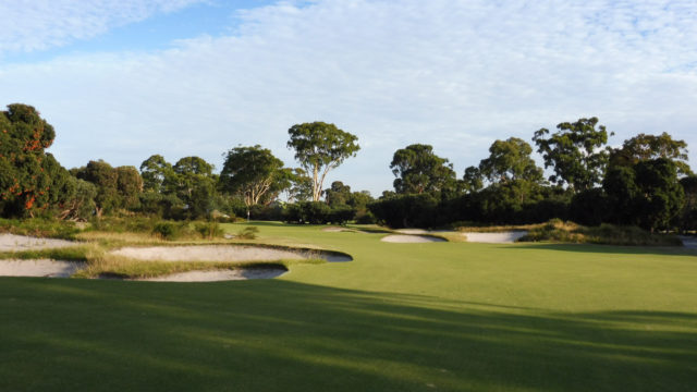 The 9th fairway at Kingston Heath Golf Club