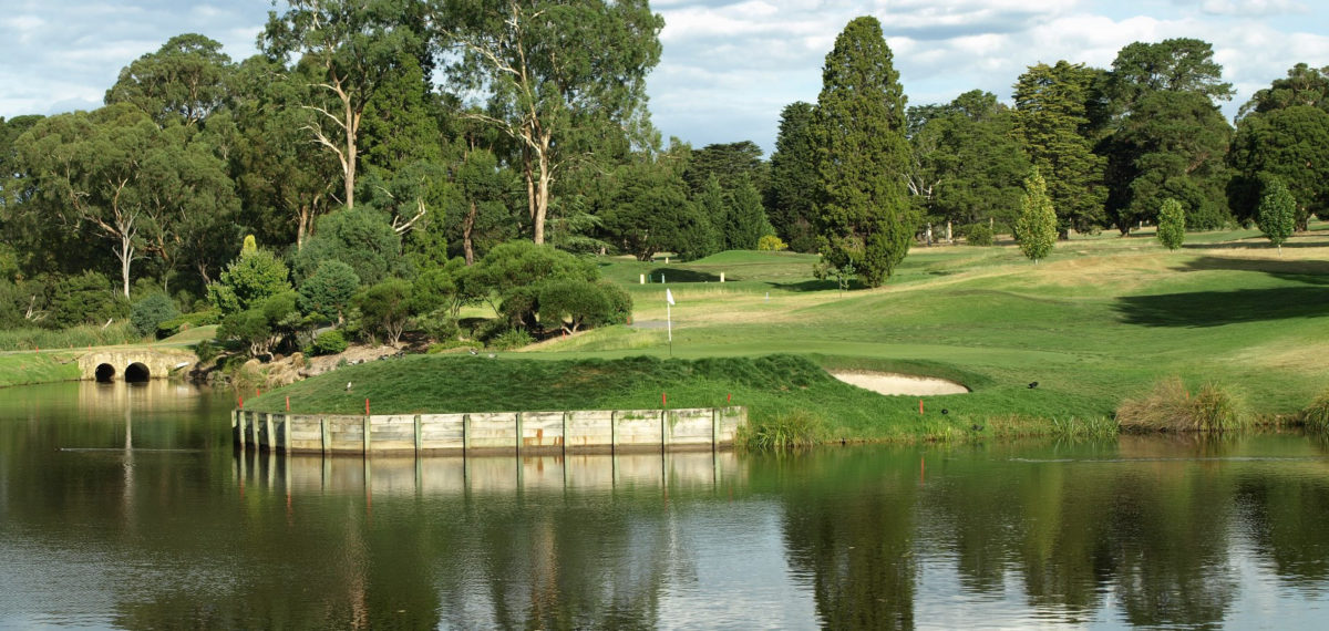 The 10th green at Riversdale Golf Club