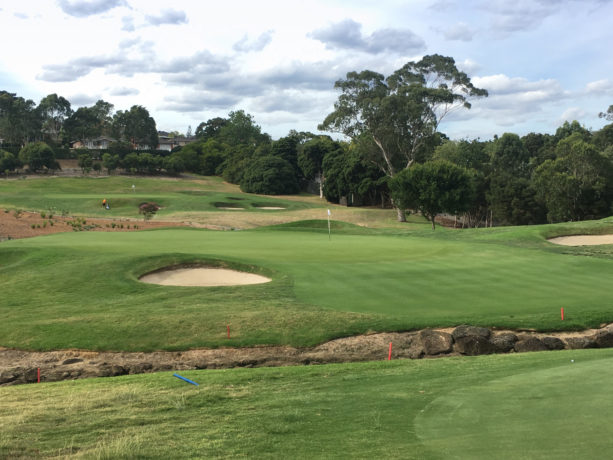 The 13th green at Riversdale Golf Club