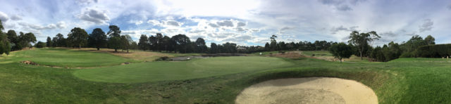 Panoramic view from 13th green at Riversdale Golf Club