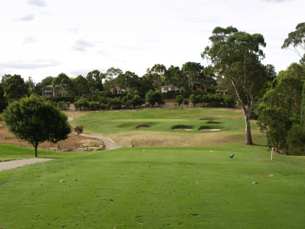 The 14th tee at Riversdale Golf Club
