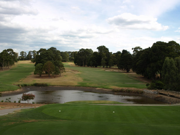 The 15th tee at Riversdale Golf Club