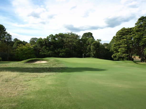 The 16th green at Riversdale Golf Club