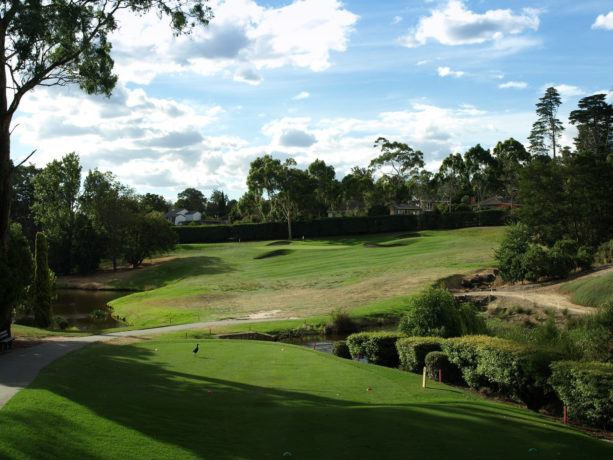 The 17th tee at Riversdale Golf Club