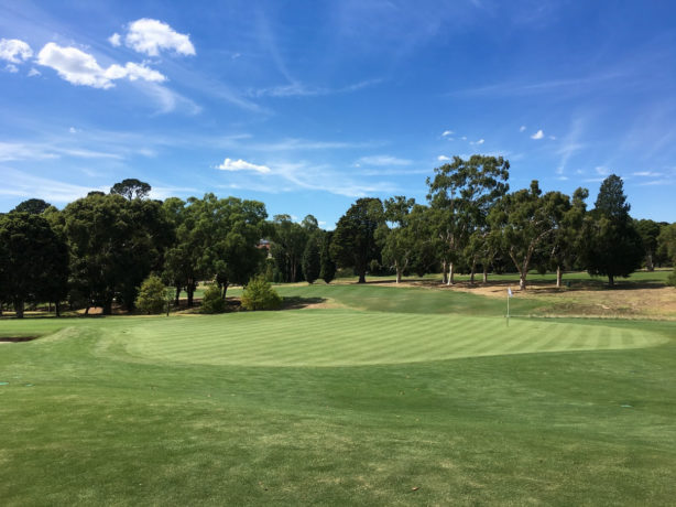 The 18th green at Riversdale Golf Club