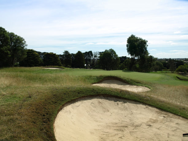 The 3rd green at Riversdale Golf Club
