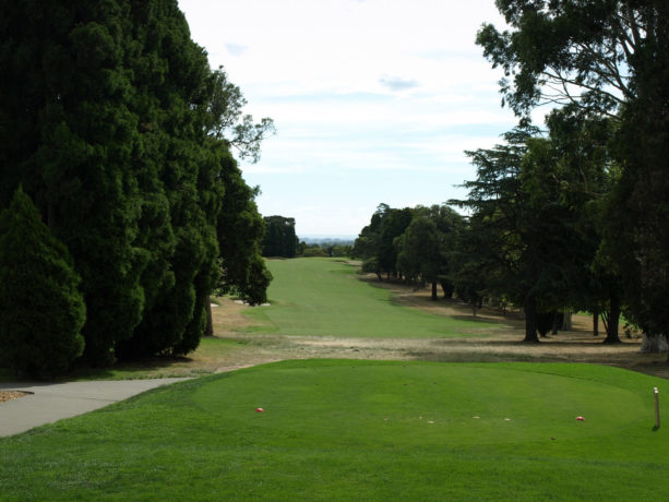 The 6th tee at Riversdale Golf Club