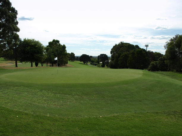The 7th green at Riversdale Golf Club