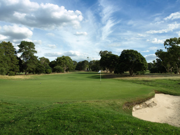 The 8th green at Riversdale Golf Club