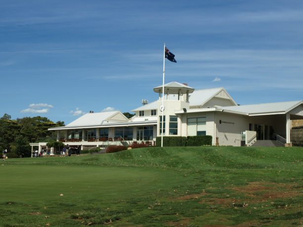 The clubhouse at Riversdale Golf Club