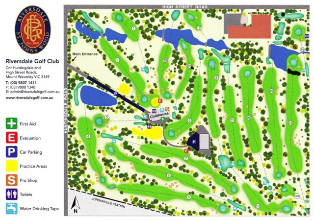 Map of Riversdale Golf Club