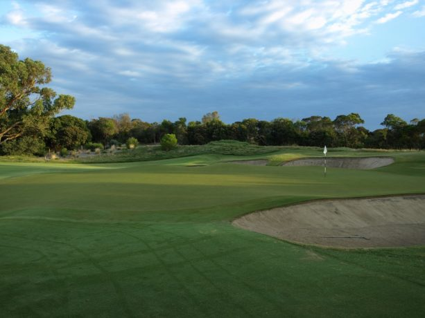 The 10th green at Sorrento Golf Club