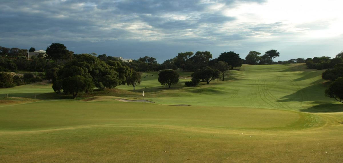 The 11th hole at Sorrento Golf Club