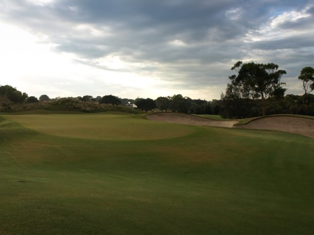 The 12th green at Sorrento Golf Club