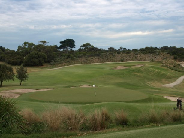 The 13th green at Sorrento Golf Club