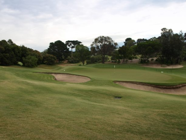The 15th green at Sorrento Golf Club