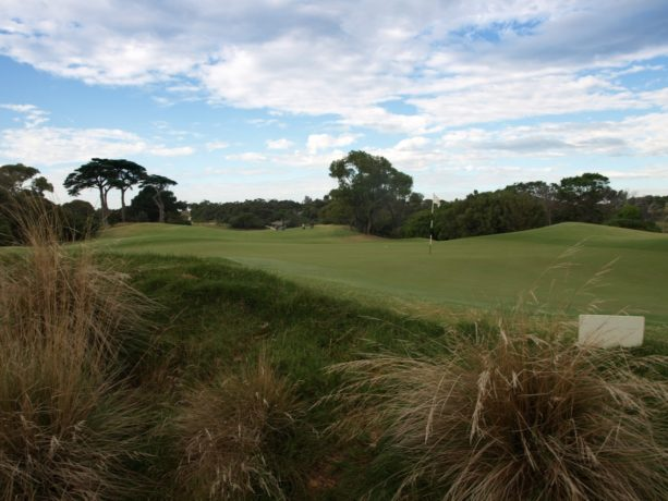The 16th green at Sorrento Golf Club