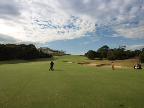 The 18th fairway at Sorrento Golf Club
