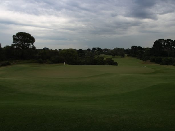 The 18th green at Sorrento Golf Club
