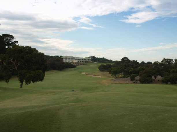 The 18th tee at Sorrento Golf Club