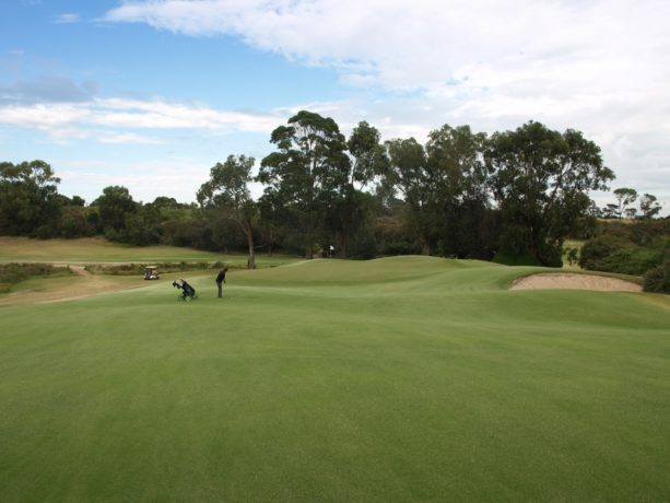 The 1st green at Sorrento Golf Club