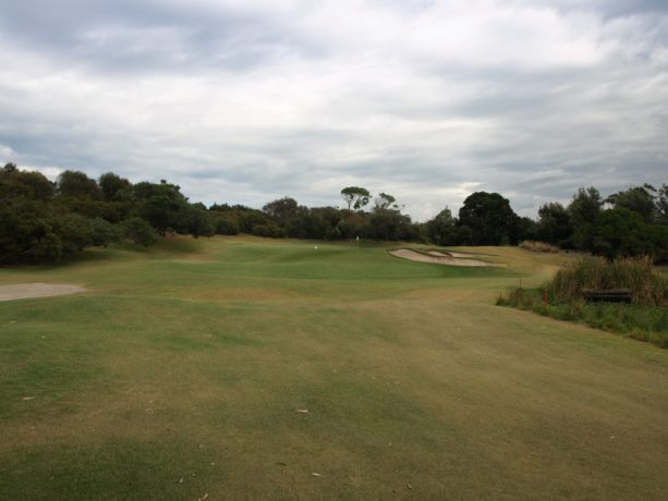 The 2nd green at Sorrento Golf Club