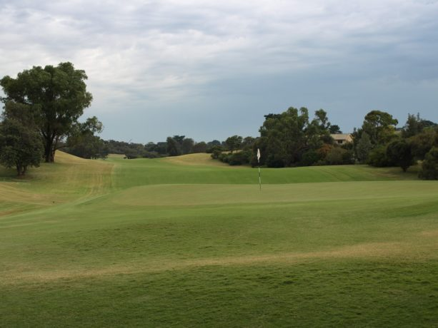 The 3rd green at Sorrento Golf Club