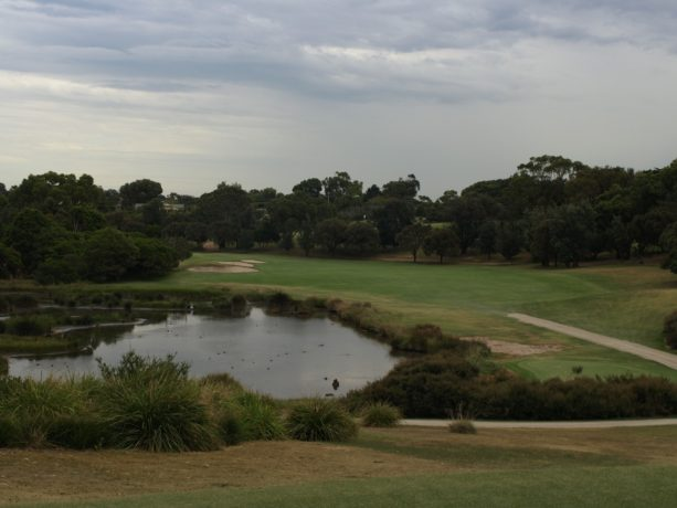 The 8th tee at Sorrento Golf Club
