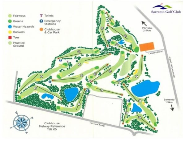 Map of Sorrento Golf Club