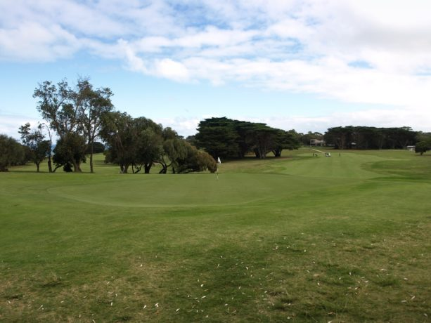 The 10th green at Flinders Golf Club