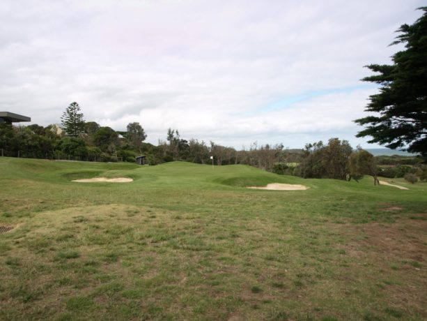 The 12th green at Flinders Golf Club