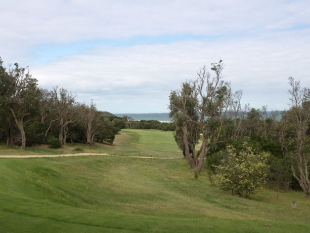 The 13th tee at Flinders Golf Club
