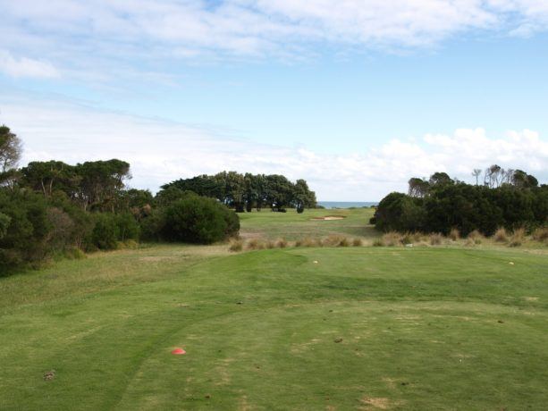 The 14th tee at Flinders Golf Club