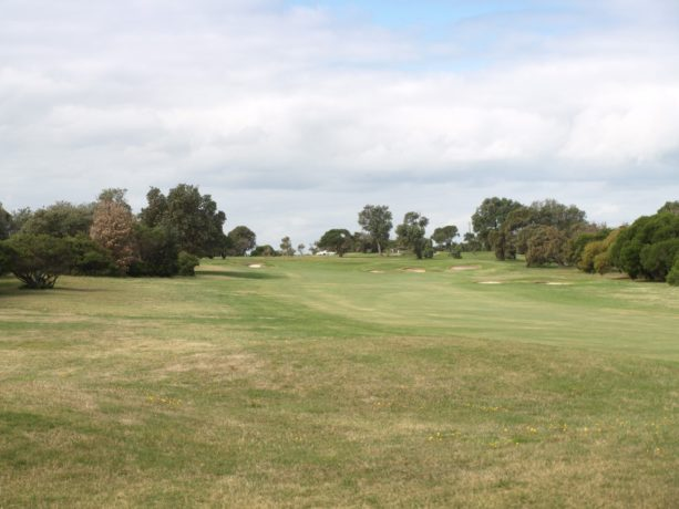 The 15th fairway at Flinders Golf Club