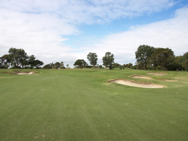 The 15th green at Flinders Golf Club