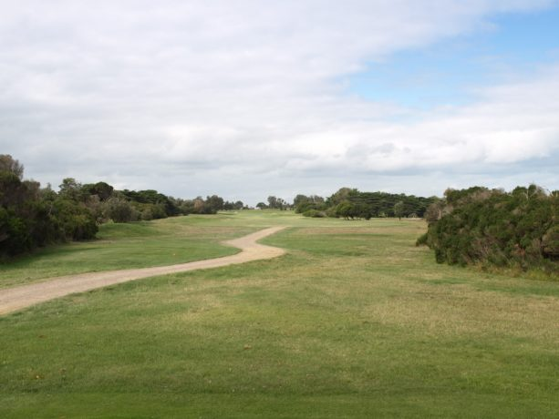 The 15th tee at Flinders Golf Club