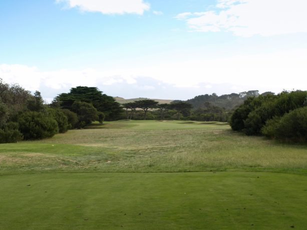 The 16th tee at Flinders Golf Club