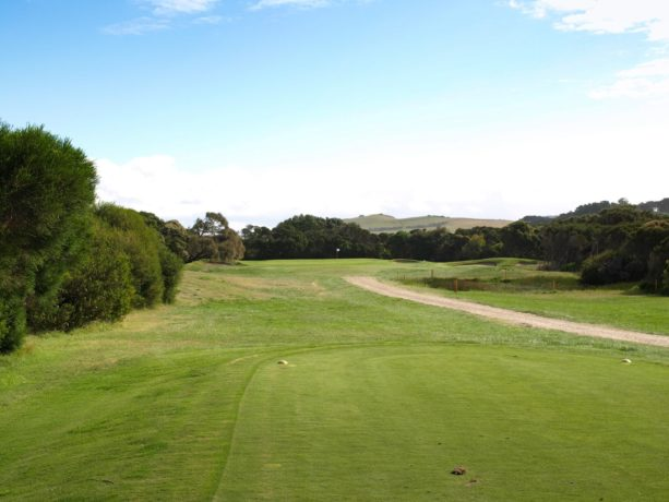 The 17th tee at Flinders Golf Club