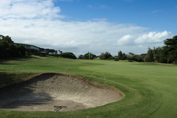 The 18th fairway at Flinders Golf Club