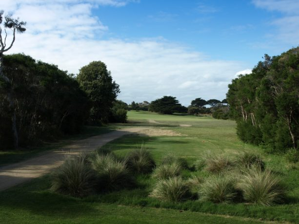 The 18th tee at Flinders Golf Club