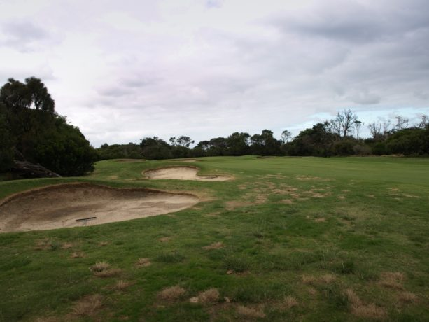 The 1st fairway at Flinders Golf Club