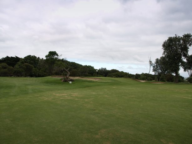 The 2nd green at Flinders Golf Club