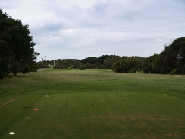 The 2nd tee at Flinders Golf Club