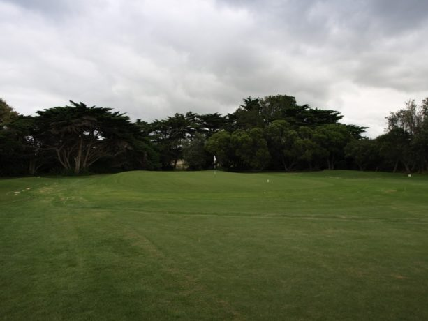 The 3rd green at Flinders Golf Club