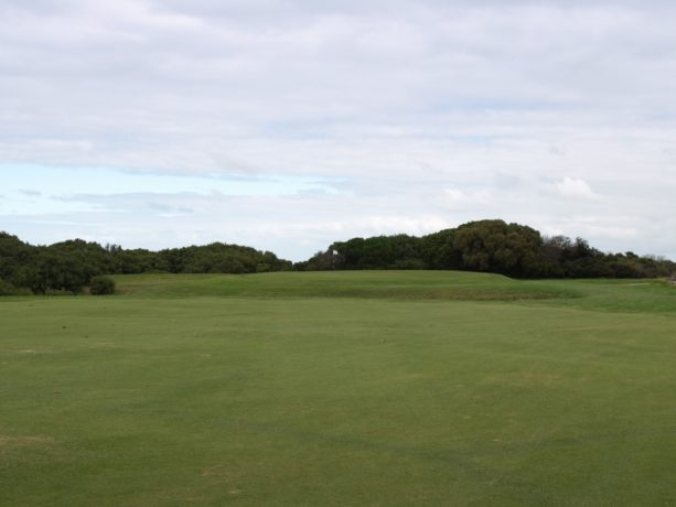 The 4th green at Flinders Golf Club