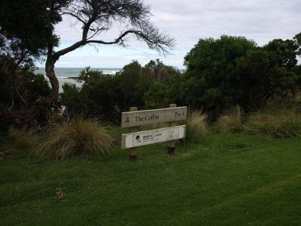 The 4th holesign at Flinders Golf Club