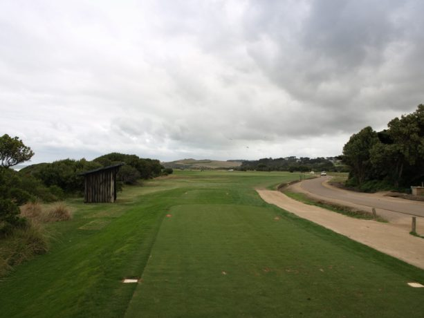 The 4th tee at Flinders Golf Club