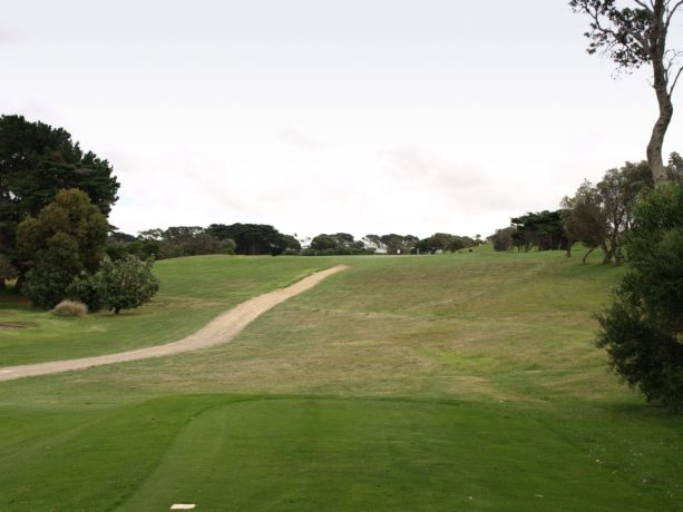 The 6th tee at Flinders Golf Club