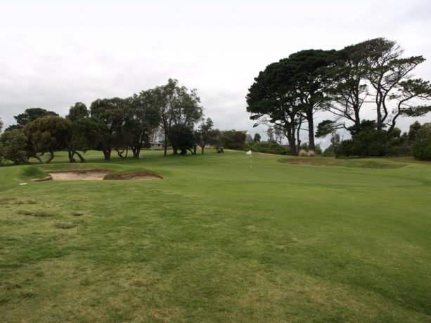 The 7th green at Flinders Golf Club