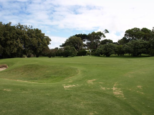The 8th green at Flinders Golf Club